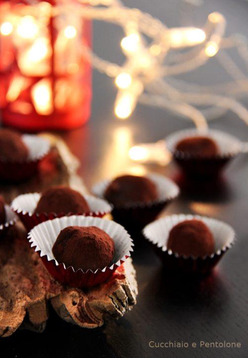 tartufi cioccolato e uvetta